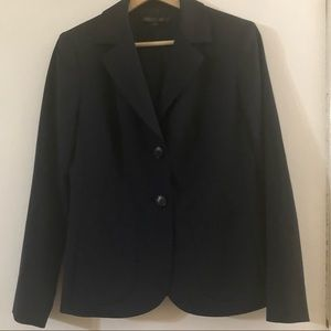 Lafayette 148 Black Wool Blazer Side Pockets 4